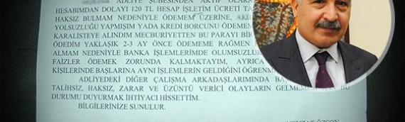 Hakimin, bankaya 'kara liste' isyanı